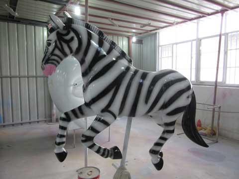 Zebra Ride Carousel Horse