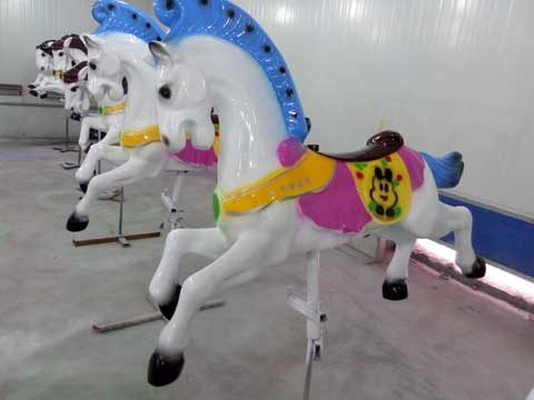 Fiberglass carousel horse for sale