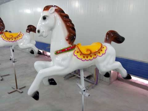 Small brown carousel horse
