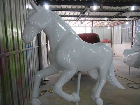 Unpainted carousel horse