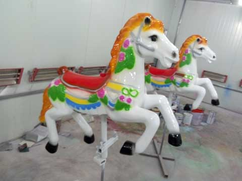 Yellow carousel horse