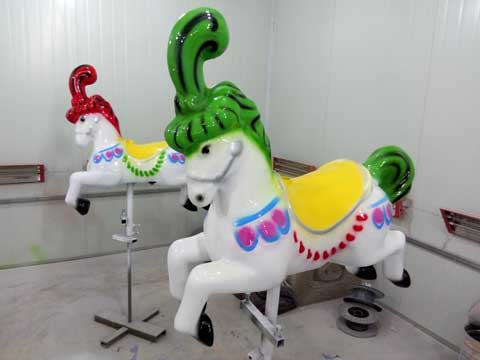 Cyan Carousel Horse