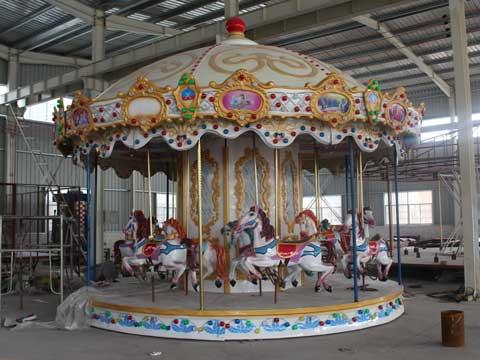 16 horse fairground carousel