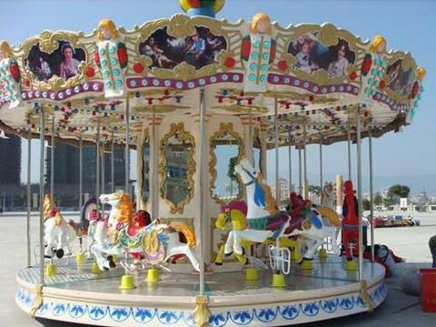 16 seat theme park carousel ride