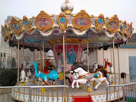 Kids and Family Carousel Fairground Ride
