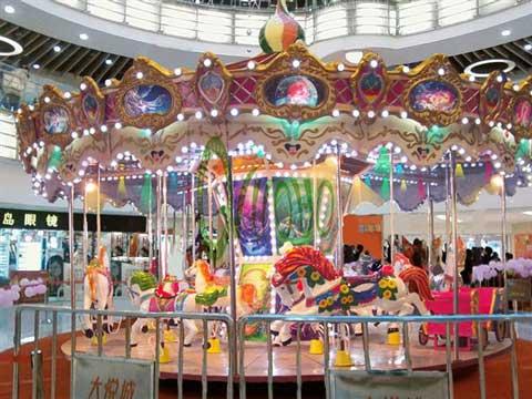16 seat carousel fairground merry go round