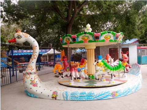 Small carousel for sale with goose platform