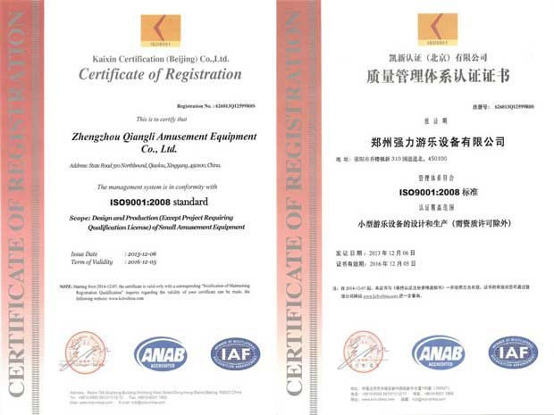 Our CE and ASTM certification