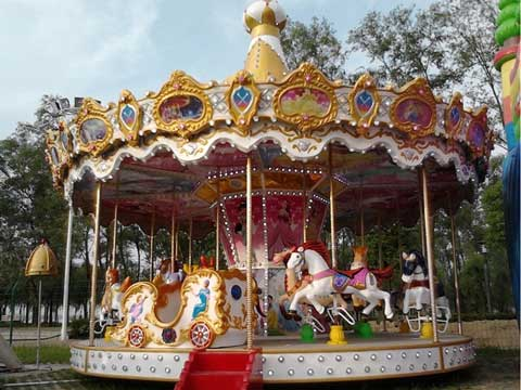 16 person carousel fairground funfair ride with classic appearance
