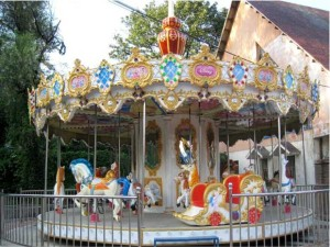 Fiberglass carousel ride for sale from Beston
