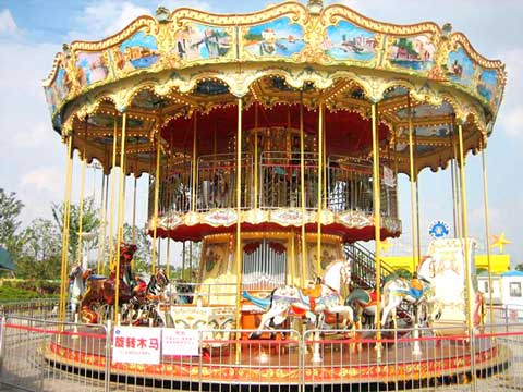 Double decker carousel with 48 seats