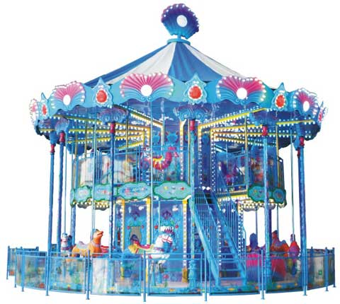 Double layer carousel for sale