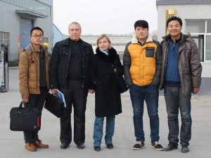 Our customer from Russia come to our factory