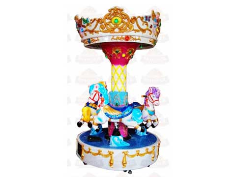 3-Horse Kiddie Mini Carousel For Sale