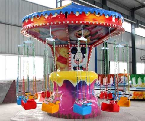 Mickey Mouse kiddie flying carousel