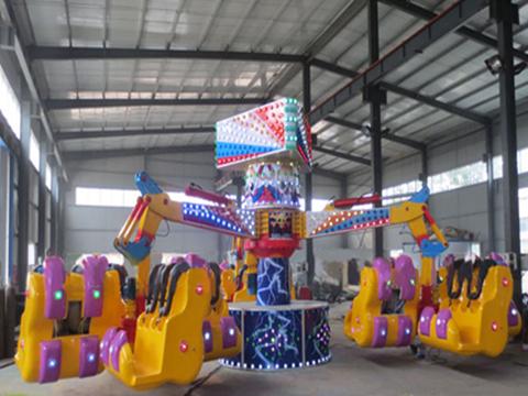 Amusement park thrill energy storm ride