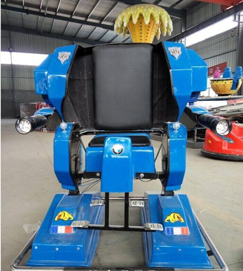 Fairground blue robot ride for sale