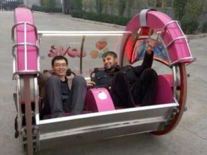 Our Customer From Tajikistan on Le Bar Car Rides with Our Manager Jing