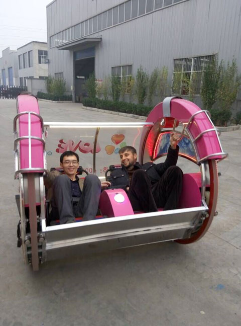 Our Tajikistan Customer With Sales Manager Jing in the Le Bar Car Ride