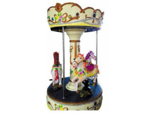 Backyard carousel with 3 seats