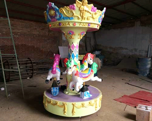 3 Horse Carousel for Backyard Use
