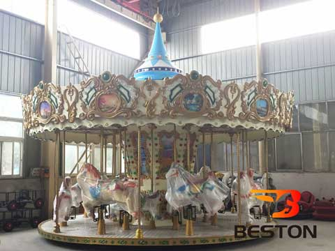 16 Seat Top Drive Carousel Ride for Sale